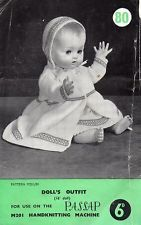 """Vintage Doll/reborn clothes MACHINE KNITTING pattern 16"""" for sale in my eBay shop - dollie.daydreams"""