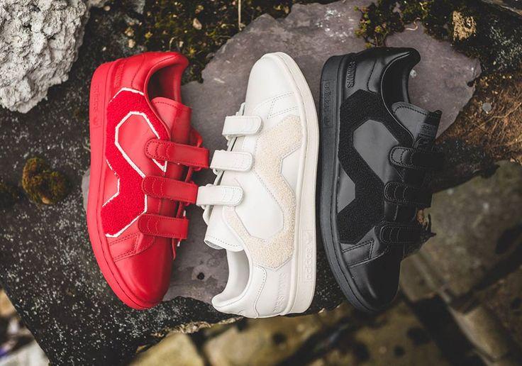 #sneakers #news  Raf Simons Adds Giant Logos To The adidas Stan Smith Comfort Badge