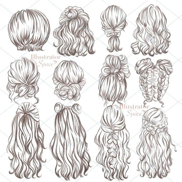 Some Tips Tricks And Methods For Your Perfect Easy Hairstyle Easyhairstyle In 2020 Hair Clipart Hair Sketch Hair Art