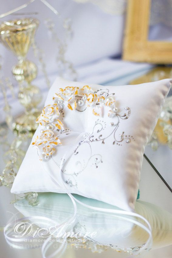 67 best Wedding Ring Pillows by DiAmoreDS images on Pinterest