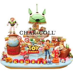 Toy Story Acrylics Tier Cake