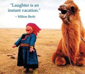 Laugh off your worries today.