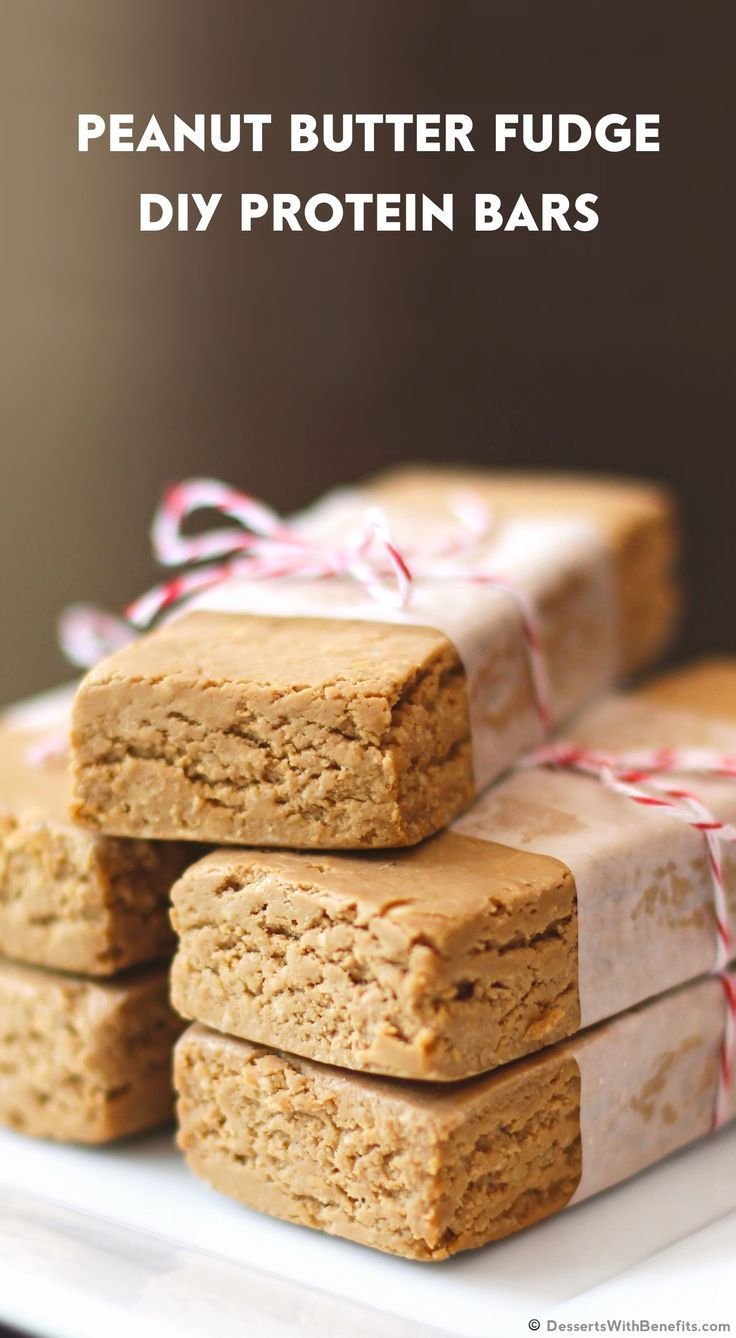 Healthy Peanut Butter DIY Protein Bars from the DIY Protein Bars Cookbook (sugar free, low carb, high protein, high fiber, gluten free, dairy free, vegan)