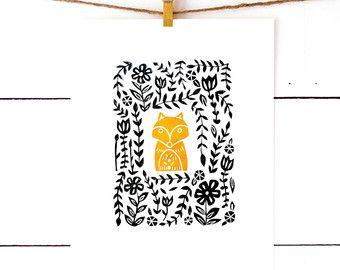 Owl Print Owl Decor Woodland Nursery Decor by RichelleBergenArt