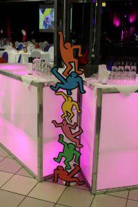 Keith Haring nous a aidé à décorer le bar!