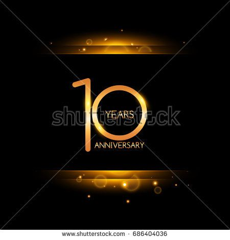 10 years golden anniversary celebration logo