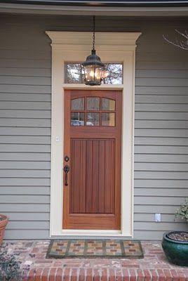 Craftsman Door with s Simple Pediment