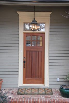 Craftsman Door with s Simple Pediment