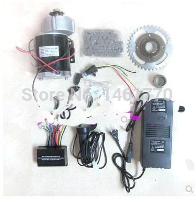 110.00$  Watch now - http://alivht.worldwells.pw/go.php?t=32302769435 - MY1020Z   450W   36V  brushed gear decelerating  motor   DIY electric bicycle kit,electric bike kit