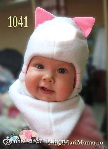 Cap-coño. coser a mano. MC con foto / coser lana sombreros para los niños - en bebi.ru