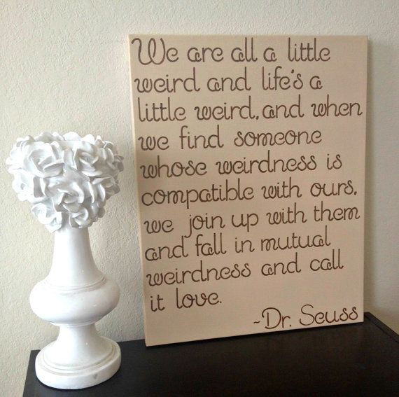 16x20 Quote on Canvas  We Are All A Little by DreamLoveBoutique, $45.00