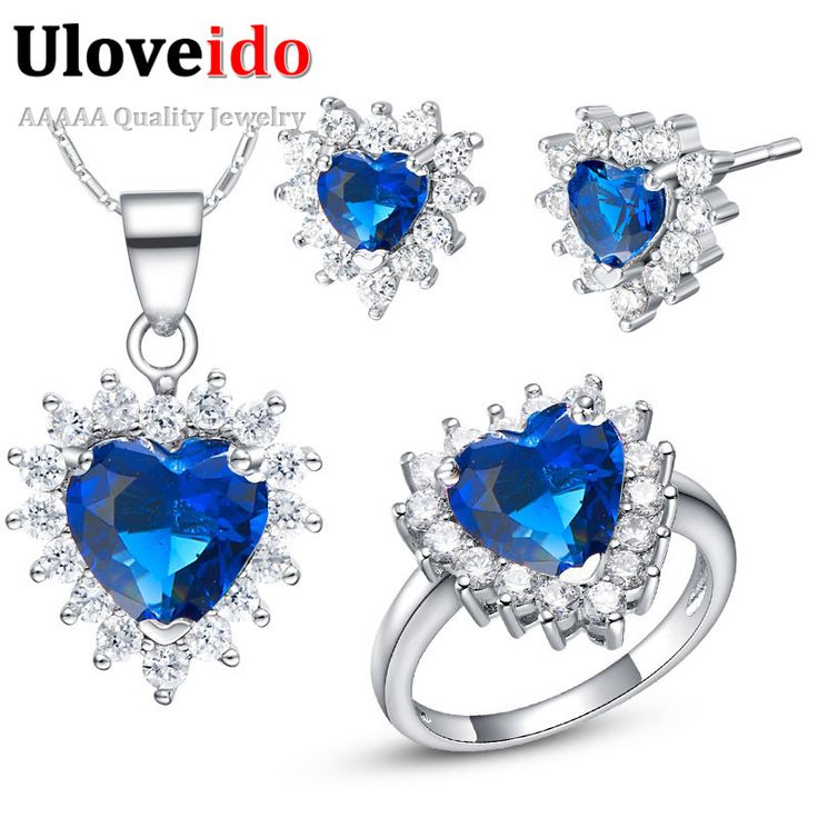 Find More Jewelry Sets Information about Sterling Silver Wedding Jewelry Sets with Purple/Sapphire Cubic Zirconia Crystal Noivas Brinco Colar e Acessorios Noivas T475,High Quality set rgb,China set ceiling Suppliers, Cheap set up office in china from ULOVE Fashion Jewelry on Aliexpress.com