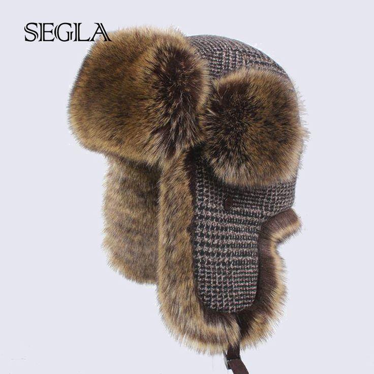 Segla faux fox fur trapper sombrero ruso trooper bomber sombreros