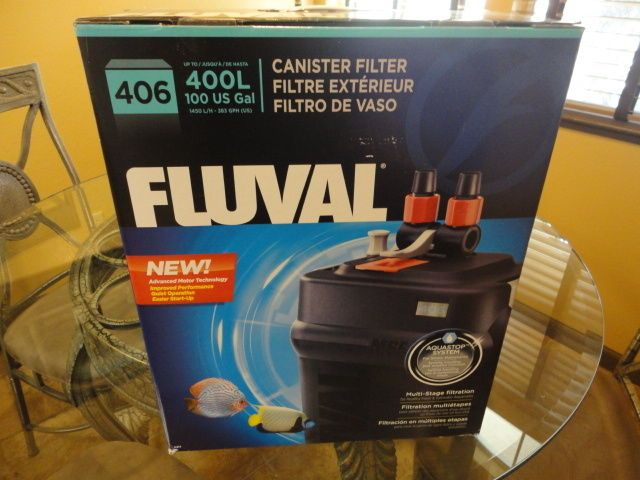 Animals Fish And Aquariums: Fluval 406 External Canister Filter - Rated Up To 100 Gallons,Aquarium,Fish Tank BUY IT NOW ONLY: $170.0