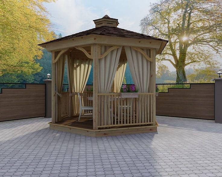 Решетки для беседки: особенности конструкций и 75 вдохновляющих идей для вашего сада http://happymodern.ru/reshetki-dlya-besedki-foto/ Одинарная решетка - самый простой вариант