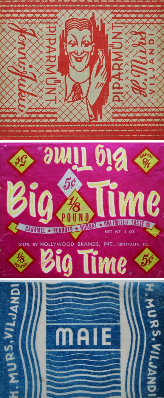 Vintage Candy Wrappers
