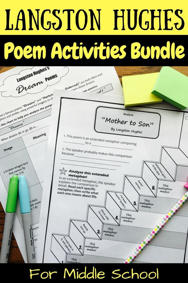 Langston Hughes Poem Activities Bundle Distance Learning With
