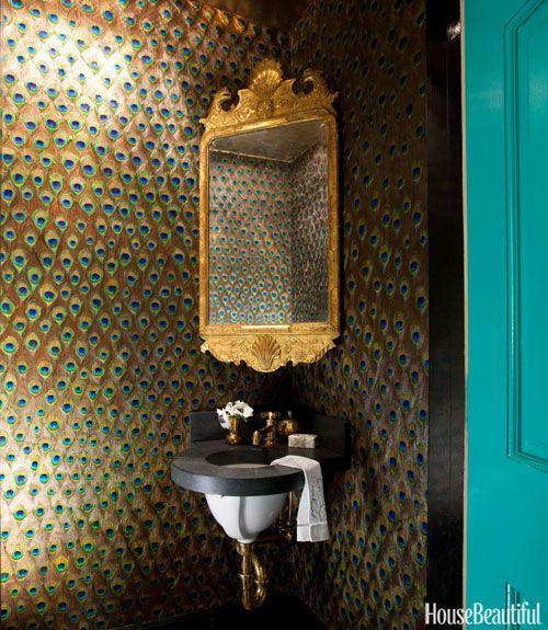 871 best places bath revision images on pinterest for Peacock bathroom design