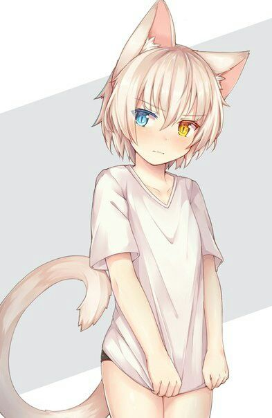 Imagen de anime girl, beautiful, and cat