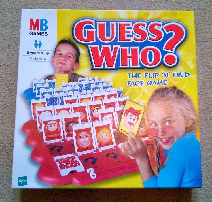 Guess Who? The Flip  N  Find Face Game from MB Games / Hasbro Int 2001