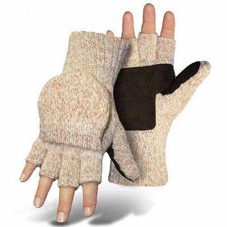 Boss Gloves Mitt Flap Ragg Wool Gloves, Beige