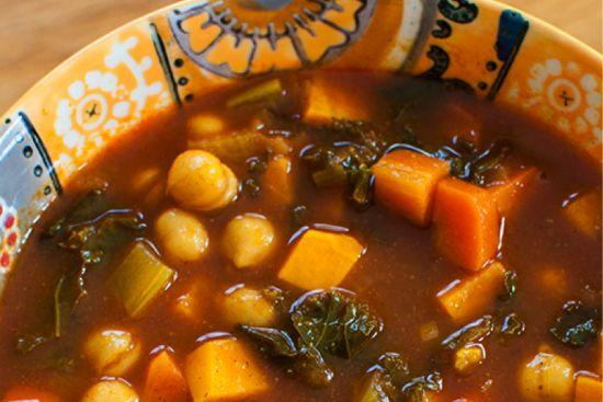 Sweet Potato Moroccan Soup