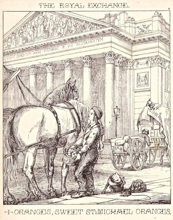 """""""London Cries & Public Edifices"""" by John Leighton (1851): """"Here is a poor…"""