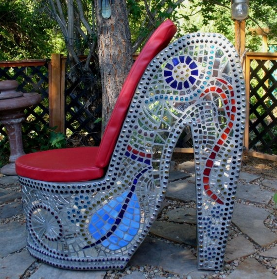 Marcy Lamberson, Mosaic High Heel Outdoor Chair