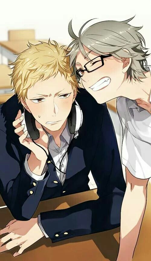 IS IT JUST ME OR DOES SUGA LOOK CUTE IN TSUKKI'S GLASSES. ITS OKAY TSUKKI, YOU LOOK HOT TOO!