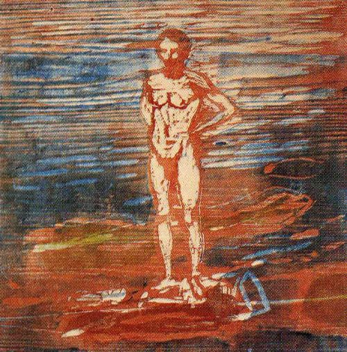 expressionism-art: Man Bathing by Edvard MunchSize: 44x44...