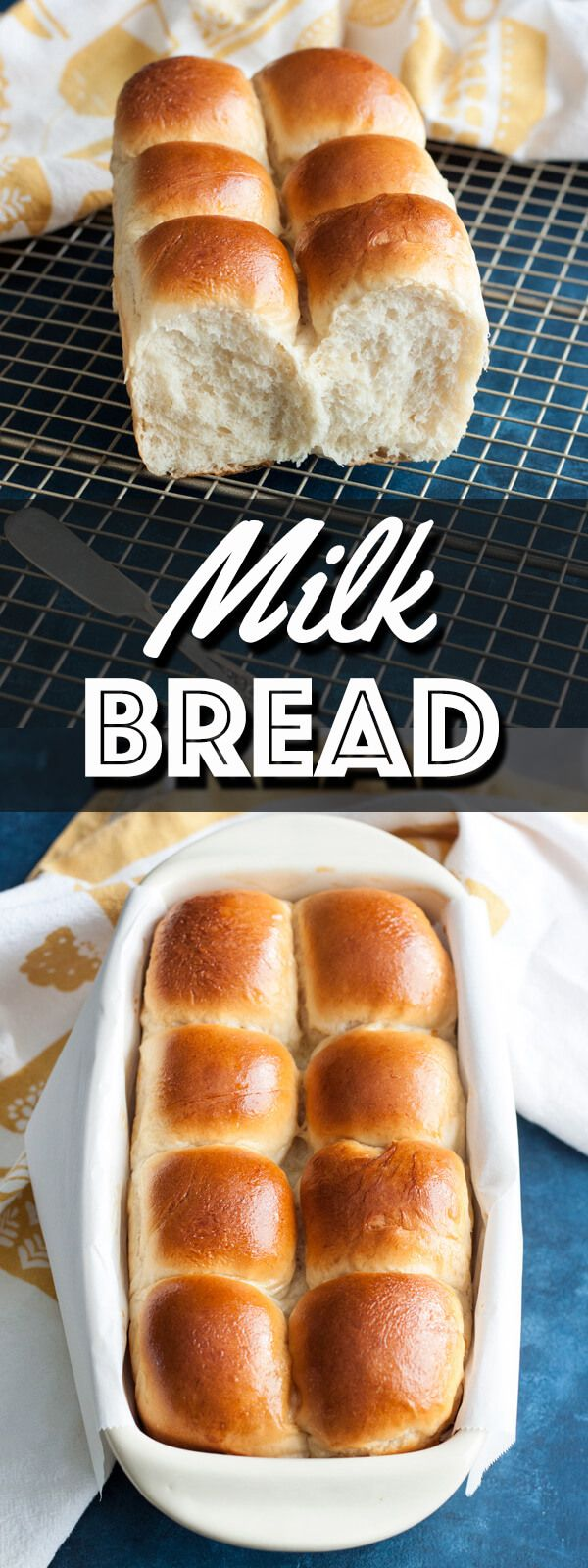 This Easy Milk Bread is soft and slightly sweet. It's delicious with butter and jam for breakfast, it will make an exceptional sandwich for lunch, or serve it up in place of dinner rolls at supper. | wildwildwhisk.com