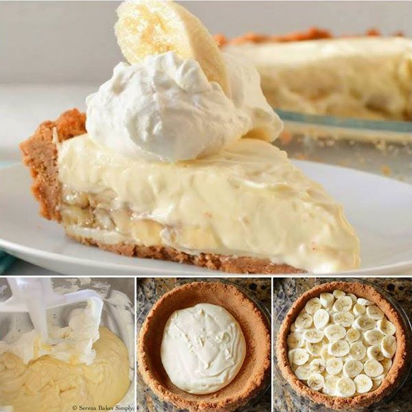 This Banana Pudding Cheesecake is seriously scrumptious and it's so easy to make. #DIY, #Recipe, #cheesecake