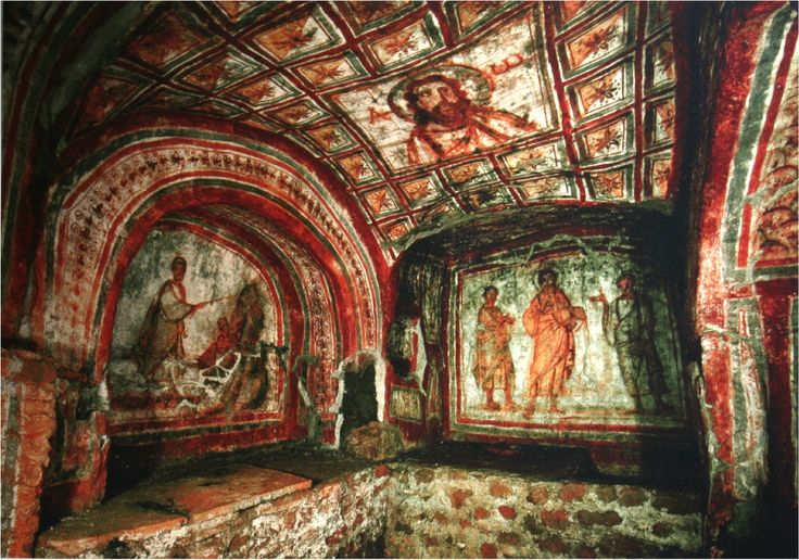 Cubiculum Of Leonis Catacomb Of Commodilla Near Rome