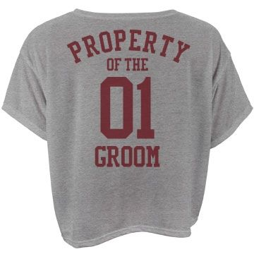 Property of the number one groom