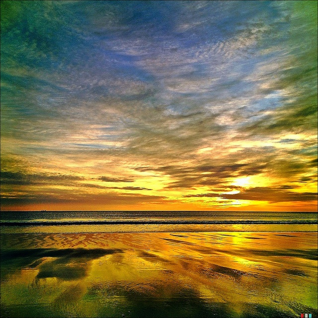 Sunrise, Embleton Bay, Northumberland, UK by Grangefirth, via Flickr