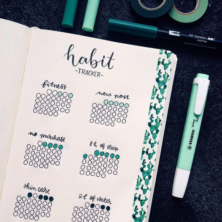 30+ Completely Superior Behavior Tracker Concepts in your Bullet Journal for 2019!