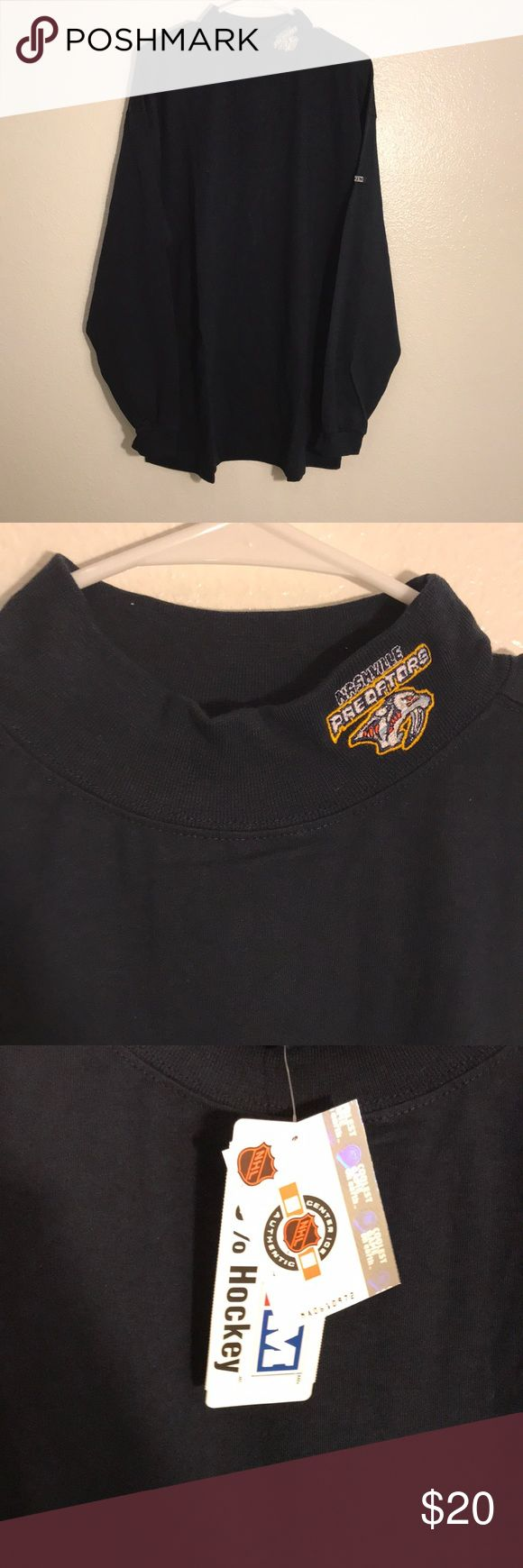 CCM Nashville Predators TurtleNeck Long Sleeve XL CCM Nashville Predators TurtleNeck Long Sleeve Size XL, With Tags, Brand New, Never Worn or Used, 🎄WILL SHIP IN ONE DAY🎄All bundles of 2 or more receive 20% off. Closet full of new, used and vintage Vans, Skate and surf companies, jewelry, phone cases, shoes and more. CCM Shirts Tees - Long Sleeve