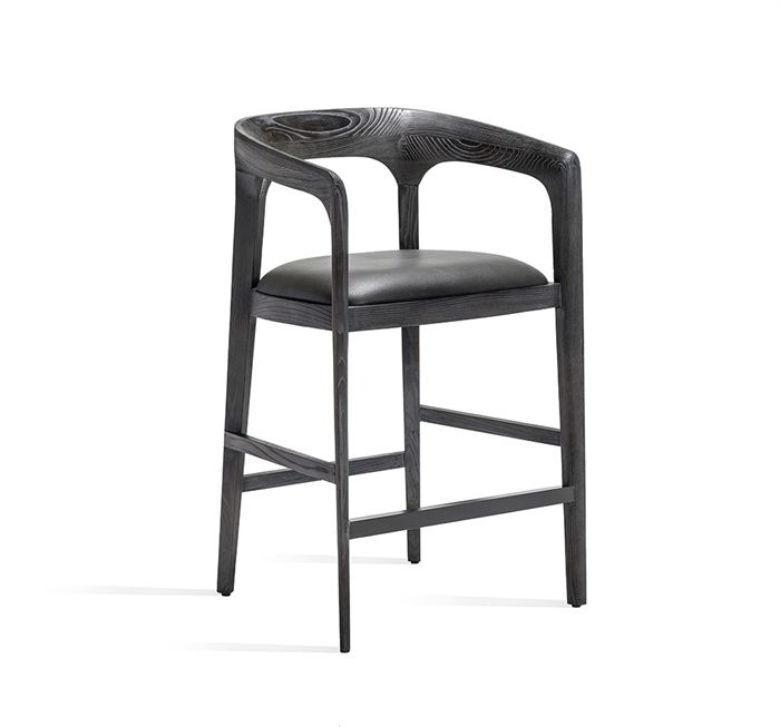 Luxury Black Steel Bar Stools