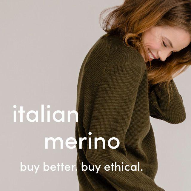 Italian Merino | Grana | Italian, Merino, Modern essentials