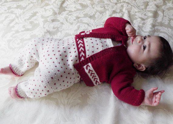Baby Allinone Bib Overalls with matching sweater