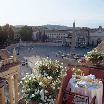 view from Hotel de Russie in Rome, Italy