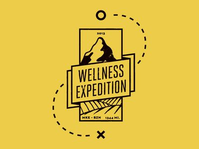 I really logo this logo. The mountains connect that this company is meant for the outdoors. The dotted line with the X also connects it has something to do with travel as well. The font is very sleek and compliments the logo well.