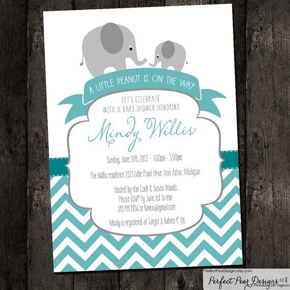 baby shower invitation boy twins neutral little peanut on the way