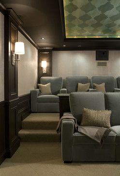 Palos Park Large Single Family Home - Transitional - Media Room - Chicago - CMR Interiors & Design Consultations Inc.
