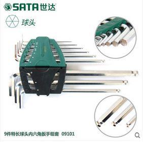 世達工具特長球頭內六方 內六角扳手 扭力套裝 內6角螺絲刀09101