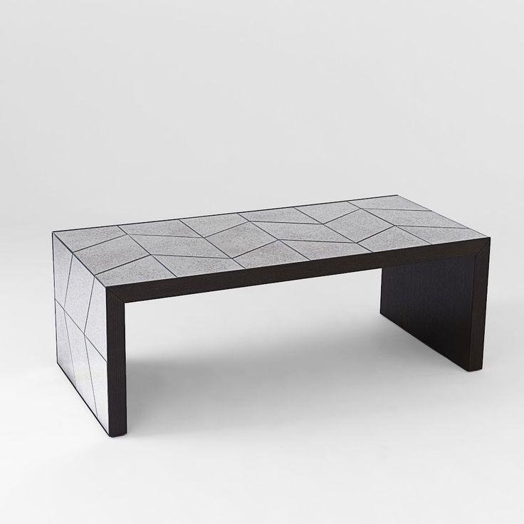Herringbone Mirror Coffee Table