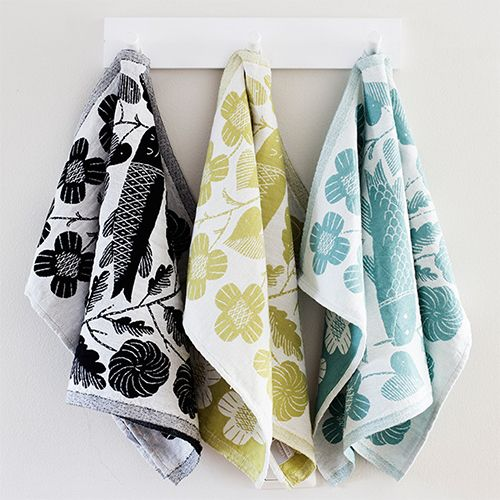 Lapuan Kankurit Kala Turquoise Tea Towel - Lapuan Kankurit Kitchen Accessories