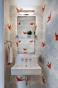 Sunset Park, Brooklyn Rowhouse - transitional - Powder Room - New York - Barker Freeman Design Office Architects pllc