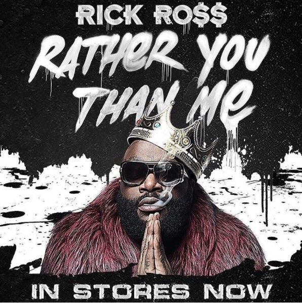 """Rick Ross release his highly anticipated 9th album titled """"Rather You Than Me"""" featuring tons of guests which includes Young Thug, Future, DeJ Loaf, Meek Mill, Anthony Hamilton, Chris Rock, Wale, Jeezy,Yo Gotti, Gucci Mane, Ty Dolla $ign, Scrilla and Nas.   #Album #Music #Rick Ross"""