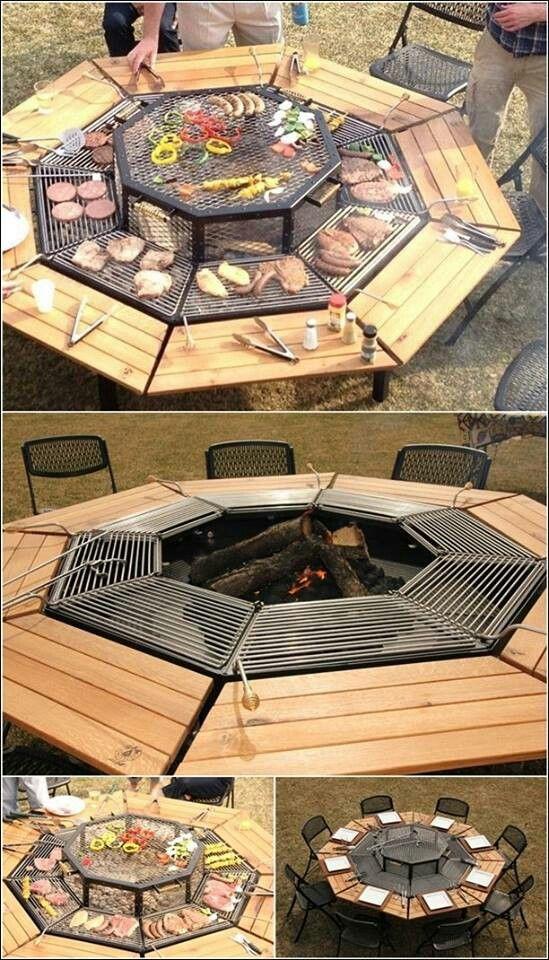 Grill master picnic table. Whaaaatttt? NEED!